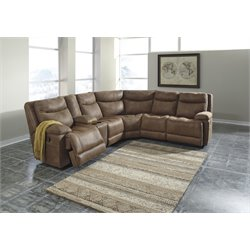 Ashley Valto 6 Piece Reclining Sectional in Saddle 2