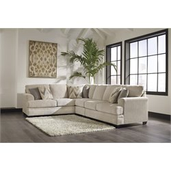 Ashley Ameer 3 Piece Sectional in Sand