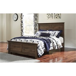 Ashley Burminson Panel Bed in Brown