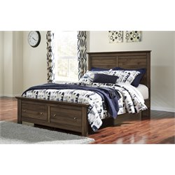 Ashley Burminson Queen Storage Bed in Brown