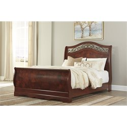 Ashley Delianna Sleigh Bed in Brown