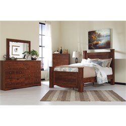 Ashley Brittberg Poster Bed in Reddish Brown