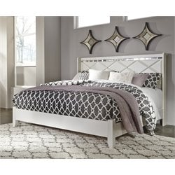 Ashley Dreamur Panel Bed in Champagne