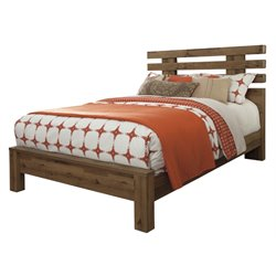 Ashley Cinrey Panel Bed in Medium Brown