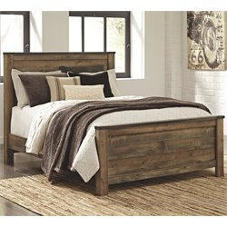 Ashley Trinell Panel Bed in Brown