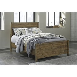 Ashley Fennison Panel Bed in Light Brown