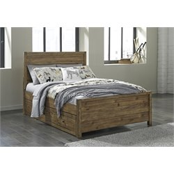 Ashley Fennison Storage Bed in Light Brown