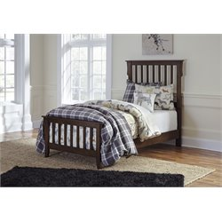 Ashley Strenton Sleigh Bed in Brown