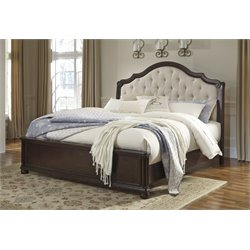 Ashley Moluxy Panel Bed in Dark Brown
