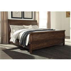 Ashley Chaddinfield Sleigh Bed in Brown