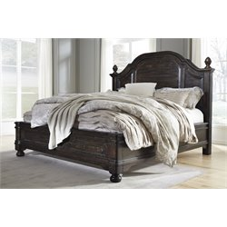 Ashley Gerlane Panel Bed in Dark Brown