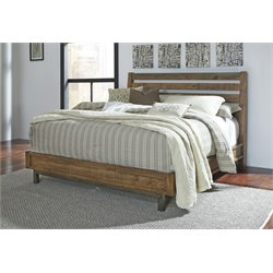 Ashley Dondie Panel Bed in Warm Brown