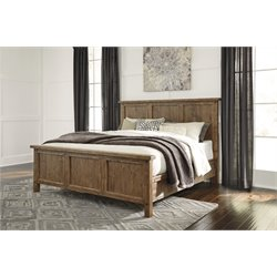 Ashley Tamilo Panel Bed in Grayish Brown