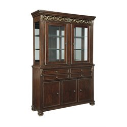 Ashley Leahlyn China Cabinet in Reddish Brown