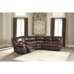 Ashley Collinsville 6 Piece Power Reclining Sectional in Chestnut
