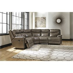 Ashley Zaiden 5 Piece Reclining Sectional in Quarry