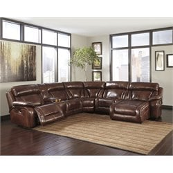 Ashley Elemen 6 Piece Power Reclining Sectional in Harness