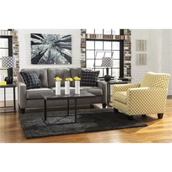 Ashley Brindon Sofa Set in Charcoal