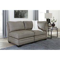 Ashley Iago 2 Piece Right Arm Loveseat in Cobblestone