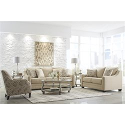 Ashley Mauricio Sofa Set in Linen