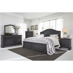 Ashley Sharlowe 5 Piece Storage Panel Bedroom Set in Charcoal