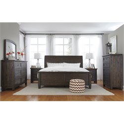 Ashley Trudell 5 Piece Panel Bedroom Set in Dark Brown