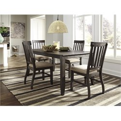 Ashley Dresbar Dining Set in Grayish Brown