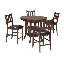 Ashley Renaburg Counter Height Dining Set in Medium Brown