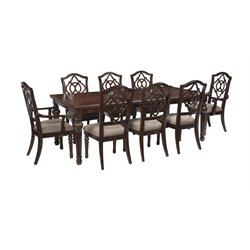 Ashley Leahlyn Dining Set in Reddish Brown
