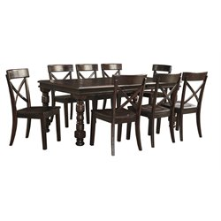 Ashley Gerlane Dining Set in Dark Brown
