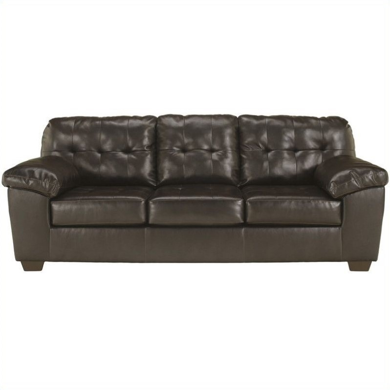 Ashley Furniture Alliston Leather Sofa in Brown