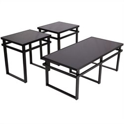 Signature Design by Ashley Furniture Laney 3 Piece Occasional Table Set in Black