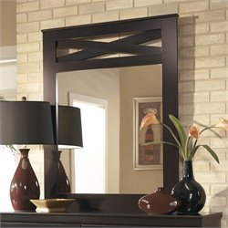 Signature Design by Ashley Furniture X-cess Bedroom Mirror in Merlot