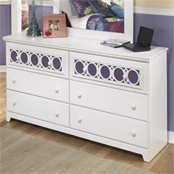 Signature Design by Ashley Furniture Zayley 6-Drawer Dresser in White