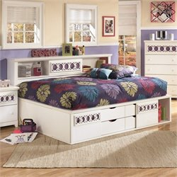 Signature Design by Ashley Furniture Zayley Captain's Bed in White