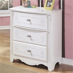 Signature Design by Ashley Furniture Exquisite 3-Drawer Chest in White