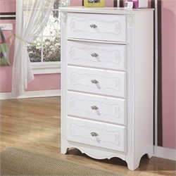 Signature Design by Ashley Furniture Exquisite 5-Drawer Chest in White