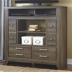 Ashley Furniture Juararo 4 Drawer Media Chest in Dark Brown