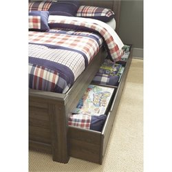 Ashley Furniture Juararo Trundle in Dark Brown