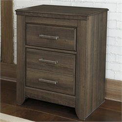 Signature Design by Ashley Furniture Juararo 2-Drawer Nightstand in Dark Brown