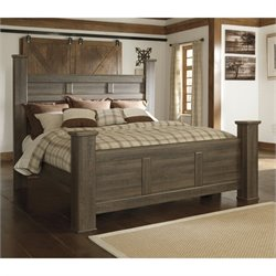 Signature Design by Ashley Furniture Juararo Poster Bed in Dark Brown