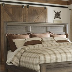 Signature Design by Ashley Furniture Juararo Panel Headboard in Brown