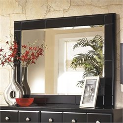 Signature Design by Ashley Furniture Shay Bedroom Mirror in Almost Black