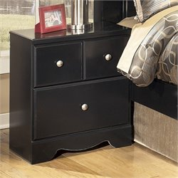 Signature Design by Ashley Furniture Shay 2-Drawer Nightstand in Almost Black