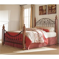 Signature Design by Ashley Furniture Wyatt Poster Bed in Reddish Brown