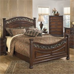 Signature Design by Ashley Furniture Leahlyn Panel Bed in Warm Brown