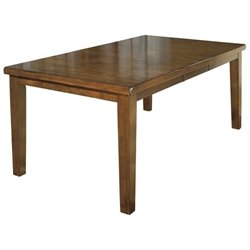 Ashley Furniture Ralene Butterfly Dining Table in Medium Brown