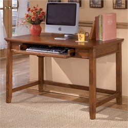 Ashley Furniture Cross Island Computer Desk in Medium Brown