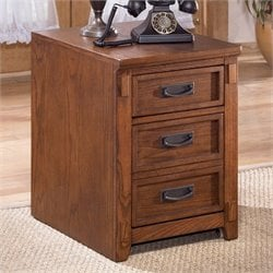 Ashley Furniture Cross Island 2 Drawer File Cabinet in Medium Brown