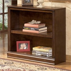 Ashley Furniture Hamlyn 2 Shelf Bookcase in Medium Brown